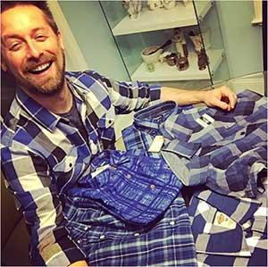 Someone did their remarketing work and sold Brian a lot of blue checkered shirts!