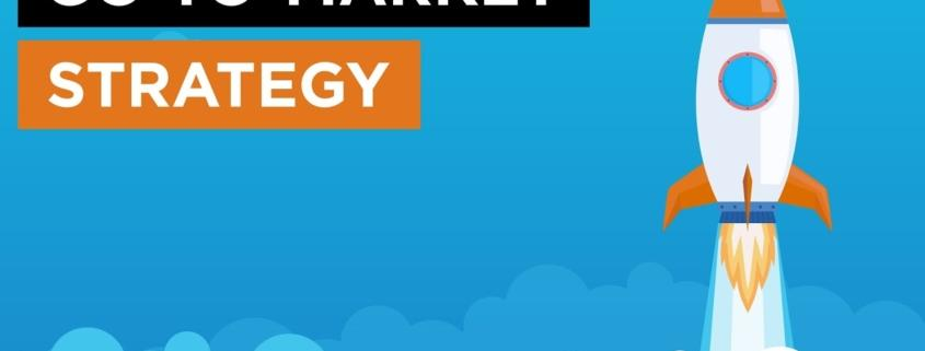 go-to market strategy + rocket launching graphic