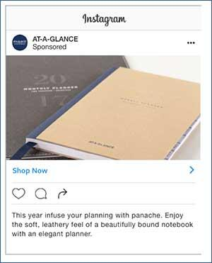 Instagram ad with a 7% rate of purchase from impression