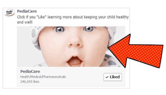 PediaCare Facebook ad sample