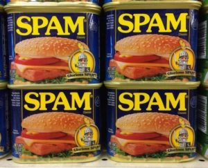 4 cans of Spam